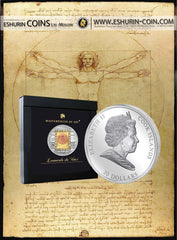 Cook Islands  2010  20$ Masterpieces of Art - Vitruvian Man SPECIAL EDITION