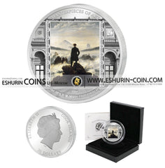 Cook Islands 2016 20 dollars Masterpieces of Art Wanderer above Sea of Fog Caspar David Friedrich silver 93.3g