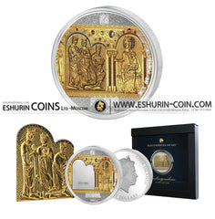 Cook Islands 2016 25/20 Dollars Masterpieces of Art Shrine Of The Three Holy Kings silver 93.3g gold 7.