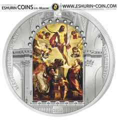 Cook Islands 2016 20 Dollars Masterpieces of Art Resurrection of Christ by Tintoretto