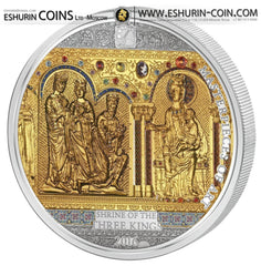 Cook Islands 2016 25/20 Dollars Masterpieces of Art Shrine Of The Three Holy Kings
