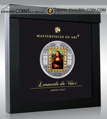 Cook Islands 2009 20 Dollars Masterpieces of Art Mona Lisa SPECIAL EDITION silver 93.3g gold 7.09g coin Острова Кука 2009 20 Долларов Шедевры искусства Мона Лиза93.30г золото 7.09г монета