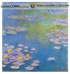 Cook Islands 2015 20 Dollars Masterpieces of Art WATER LILIES Claude Monet silver 93.3g