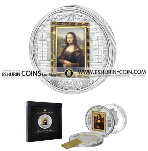 Cook Islands 2009 20 Dollars Masterpieces of Art Mona Lisa SPECIAL EDITION