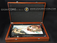 Niue 2013 5Dollars  Creation of Adam Michelangelo Buonarroti  Giants of Art 960g  Silver Set 12