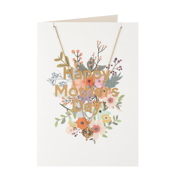 Mothers Day Gift Card with necklace
