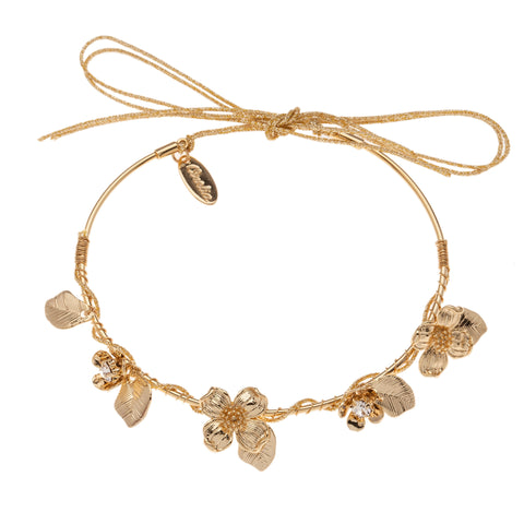 Orelia Flower Wrap Gold Bracelet