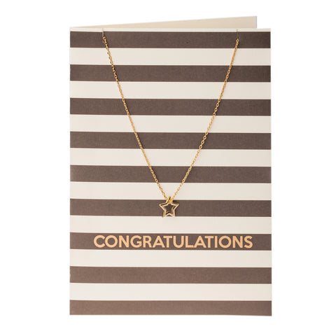 Orelia Gift Card Congratulations Necklace