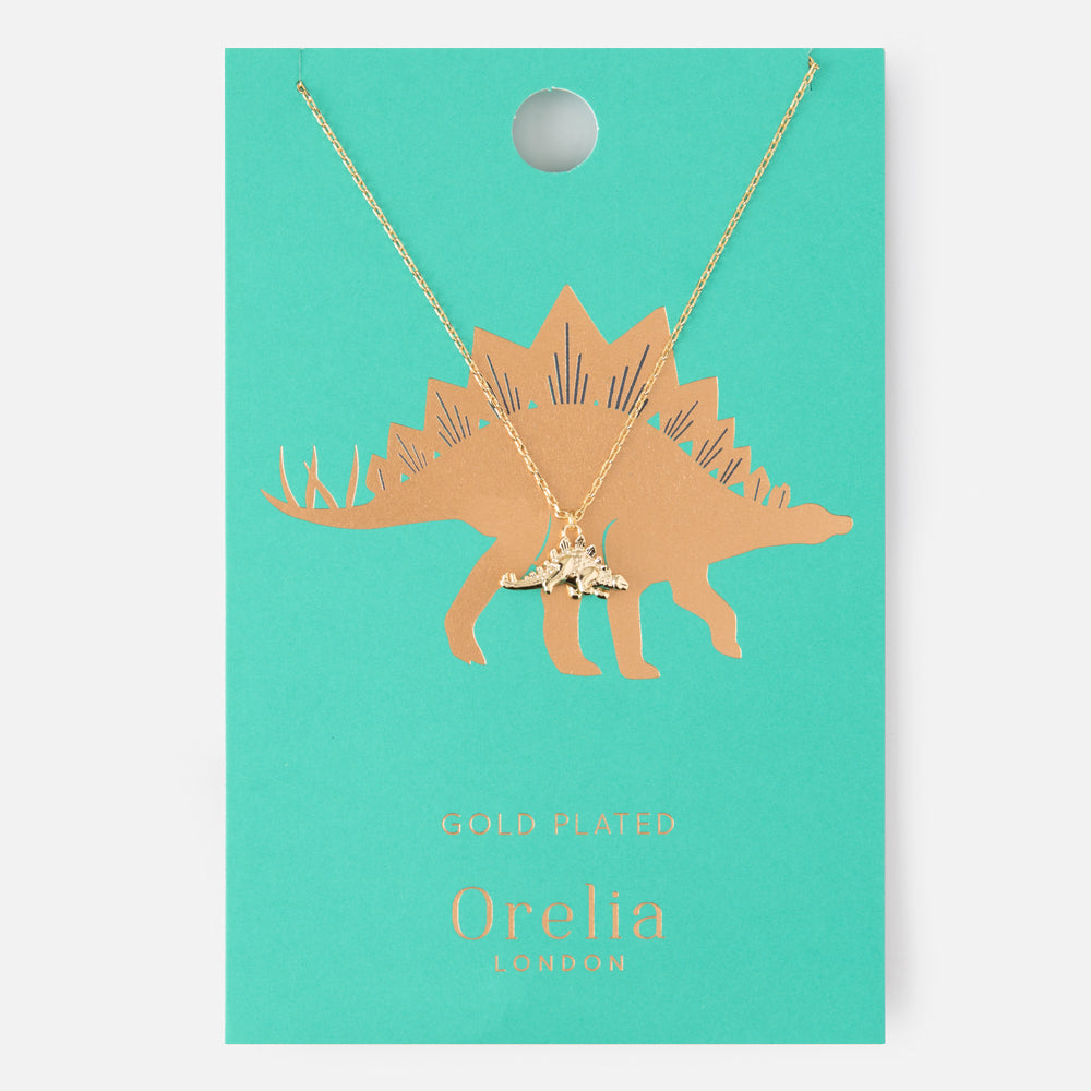 Orelia Stegosaurus Charm Necklace