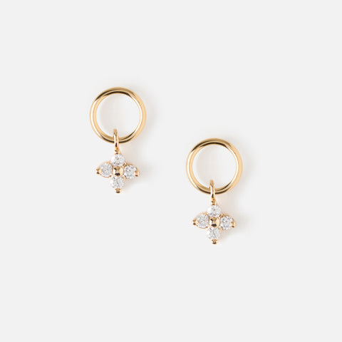 Orelia Tiny Hoop and Petal studs