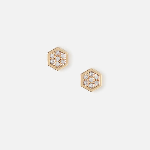 Orelia  Hexagonal Marquisite  Stud earrings