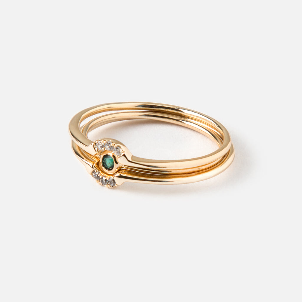 Orelia Gold Plated Interlocking Ring