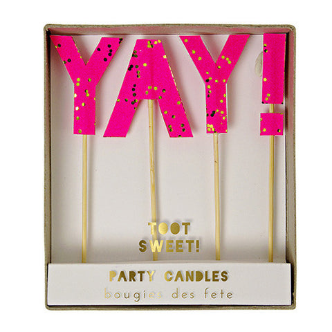 Meri Meri Candles 'YAY!'