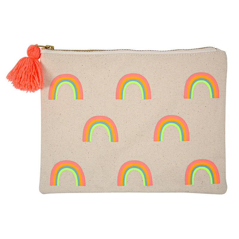 Meri Meri Rainbow Large Canvas Pouch