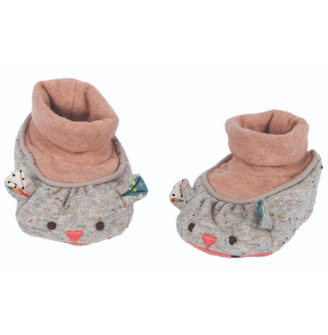 Moulin Roty Baby Slippers - Les Jolis trop beaux Mouse
