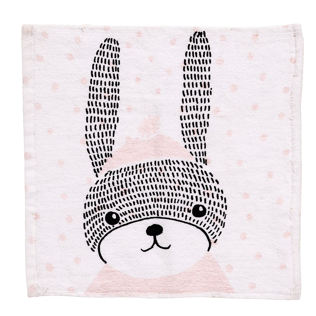 Bloomingville Bunny Illustration Washcloth - Pink