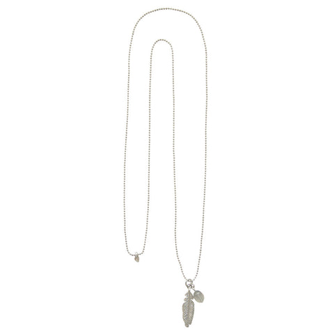 A Beautiful Story's Grey Moonstone Silver Necklace