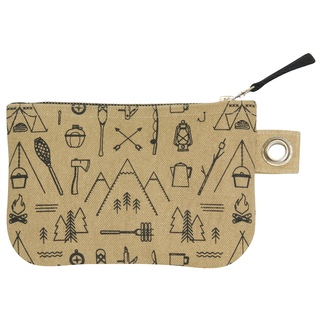 Cubic Adventure Awaits Small Zipper Pouch.