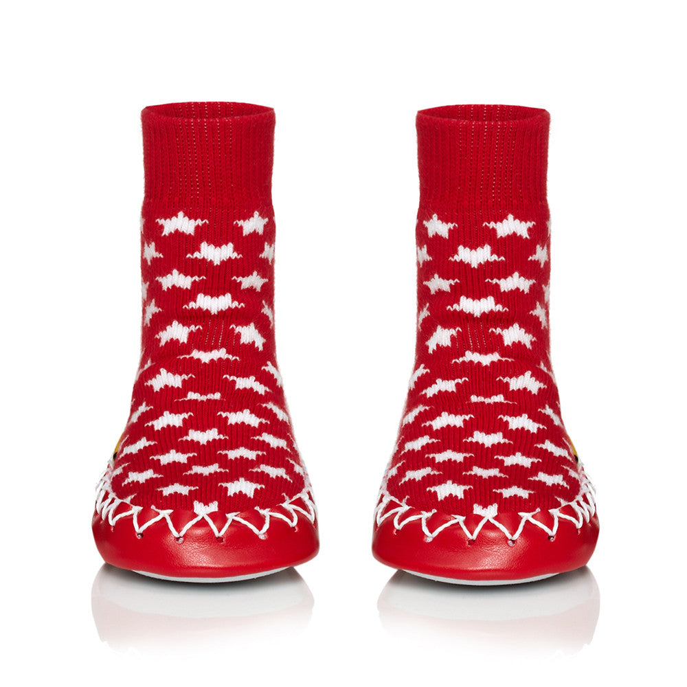 Moccis Red Stars Moccasins