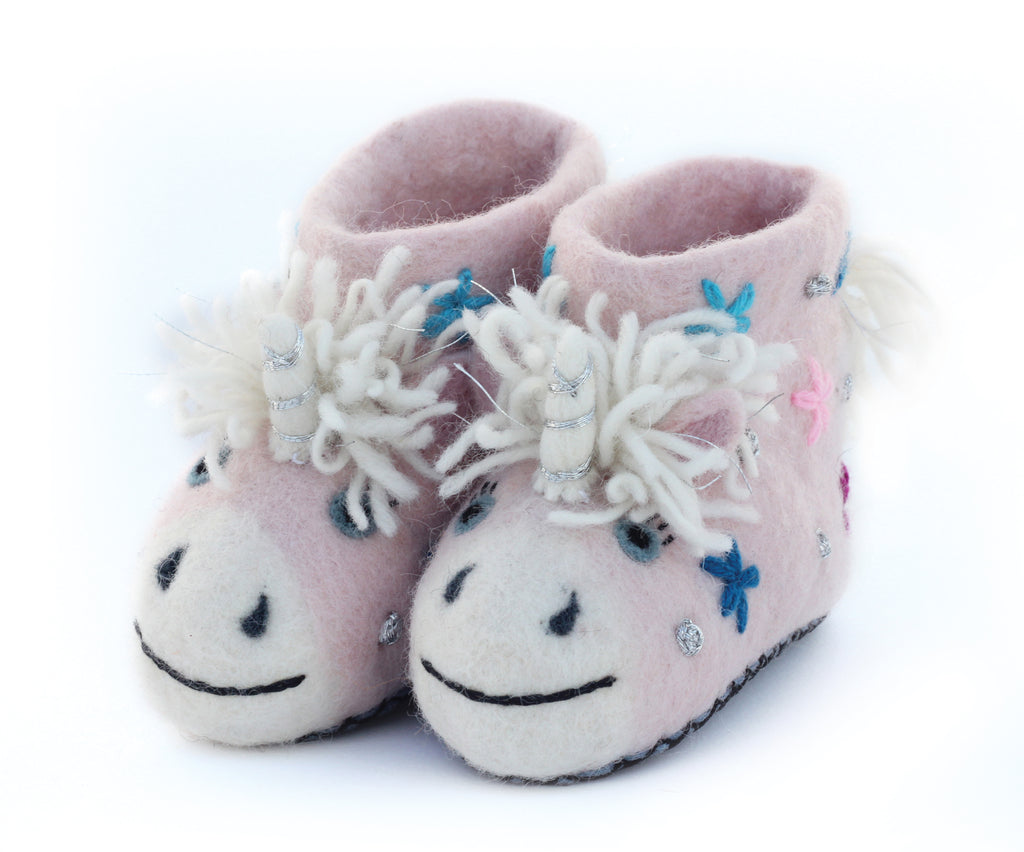 Celeste the Unicorn Felt Slippers