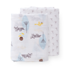 Organic Swaddle Set - Foxes and Flowers