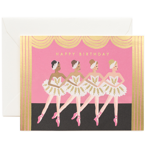 Rifle Paper Card - Happy Birthday Ballet