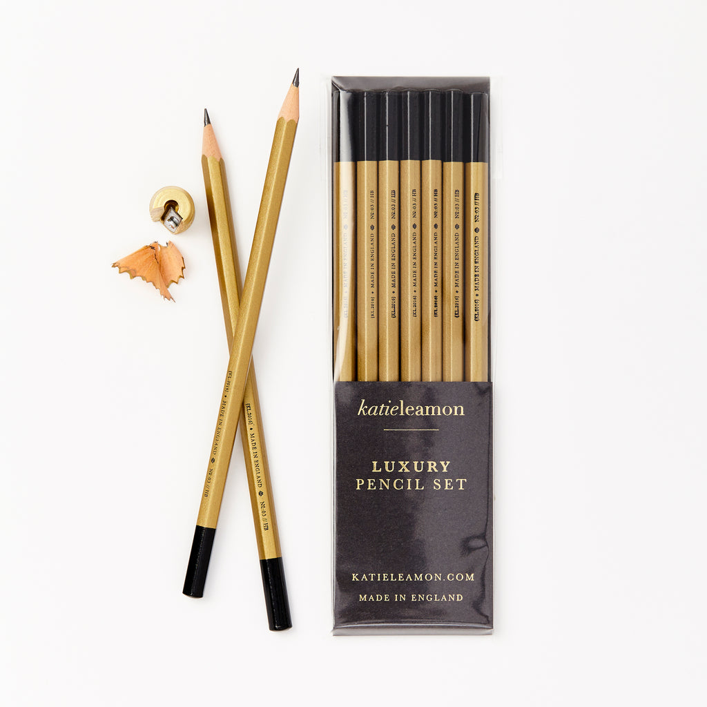 Katie Leamon Luxury Gold Pencil Set