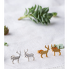 Gold and silver stag studs by Amanda Coleman