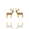 Gold Stag Studs by Amanda Coleman
