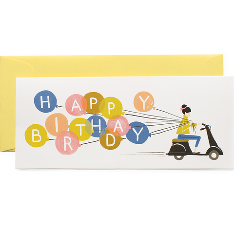 Rifle Paper Card - Happy Birthday Scooter