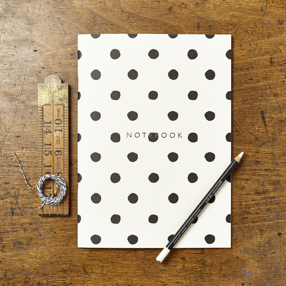 Katie Leamon Notebook Painted Polka Dot