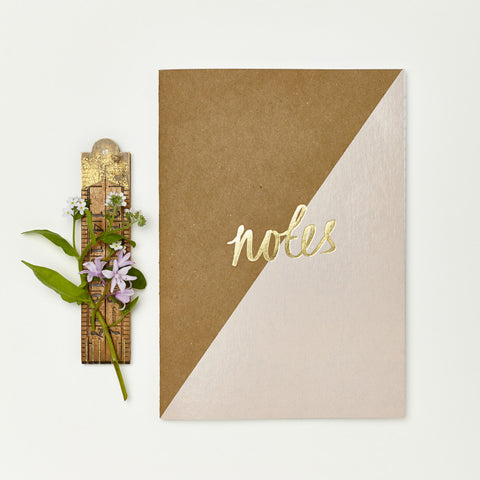 Katie Leamon Notebook Kraft Pink