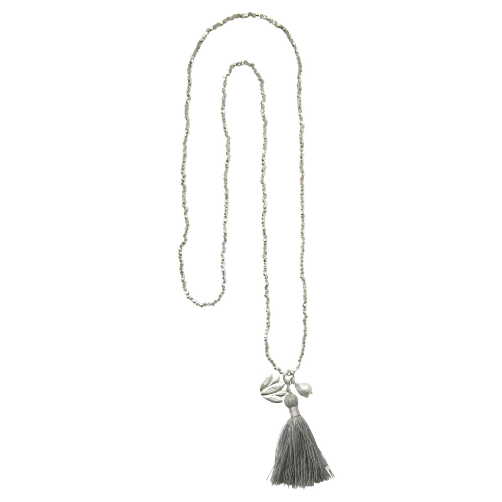 Bloom Pearl Silver Necklace