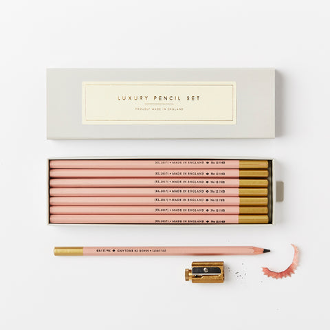 Katie Leamon Luxury Boxed Pencils Pink