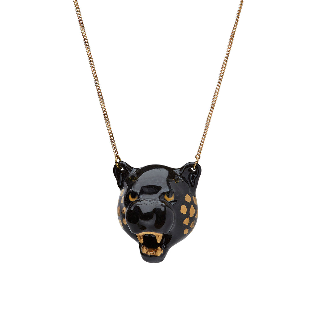 And Mary Roaring Black Panther Necklace