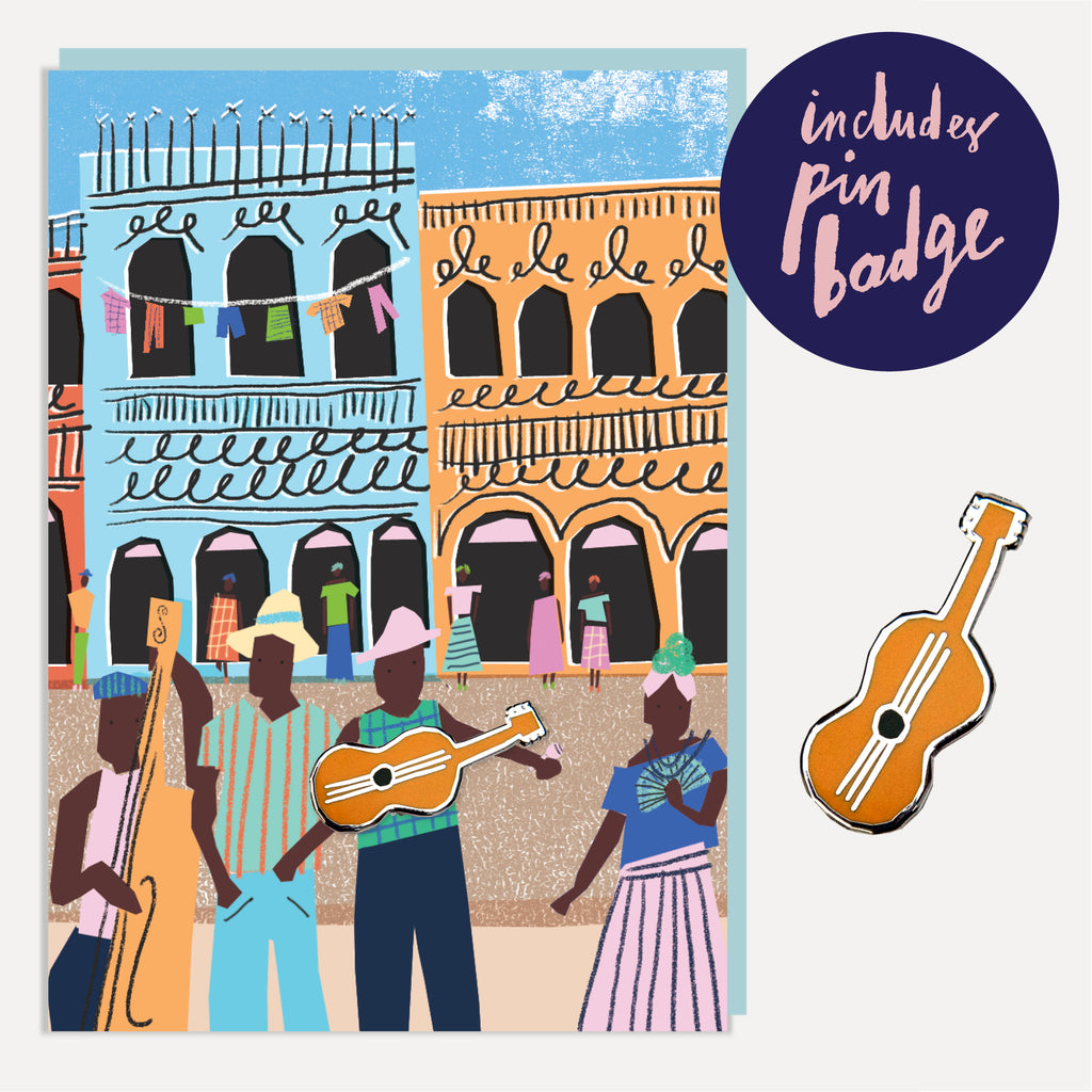 U Studio Street Musicians Greeting Card