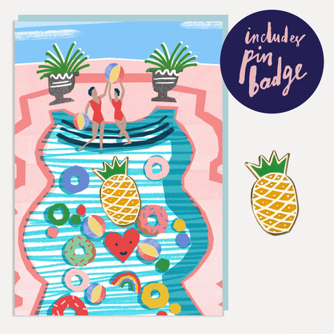 U Studio Pool Party Greeting Card