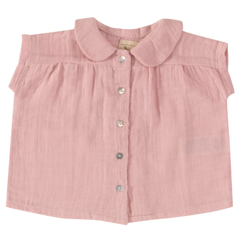 Pigeon Organics - Pink Blouse with Peter Pan Collar