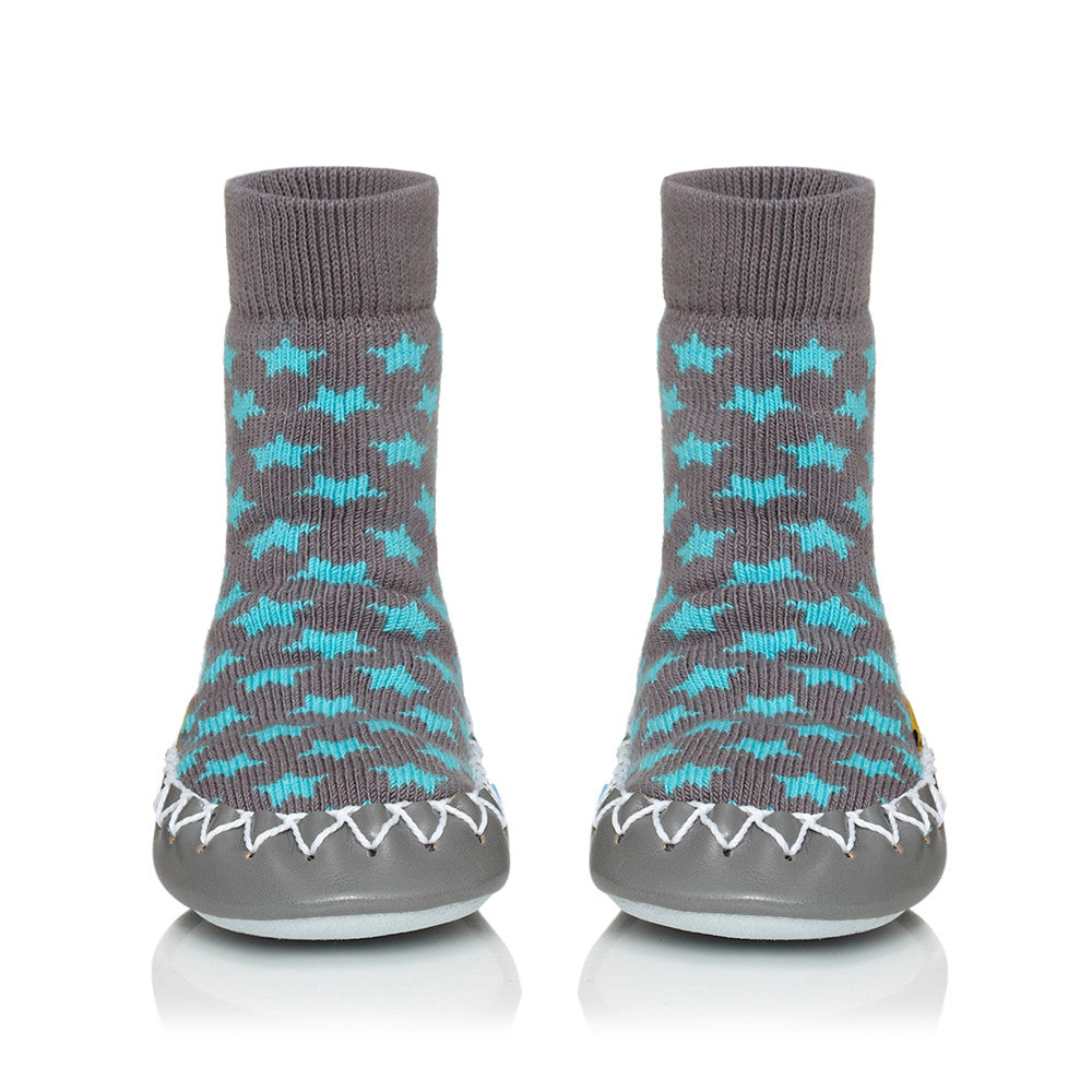 Moccis Turquoise Stars Moccasins
