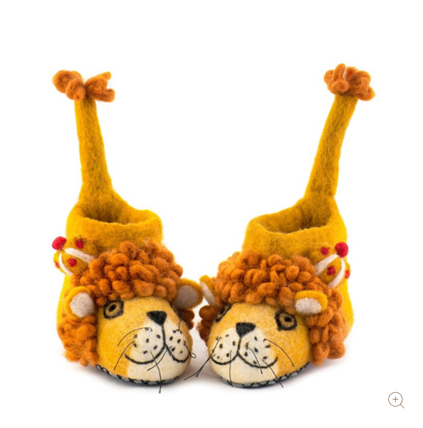 Sew Heart Felt Leopold Lion Slippers