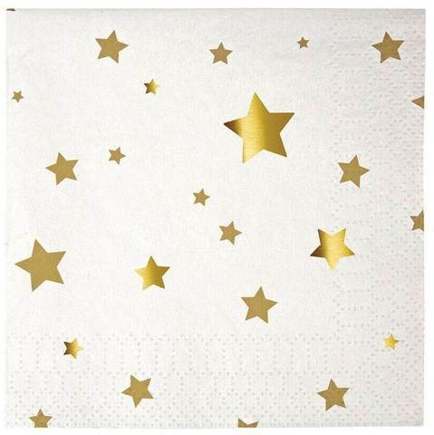 Meri Meri Gold star napkins
