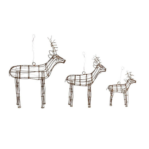 Nkuku Ineko Wire Reindeer Decoration