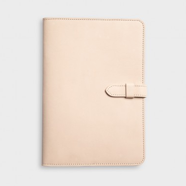 Katie Leamon Hide Leather Organiser in blush