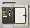 Katie Leamon Hide Leather Organiser in grey