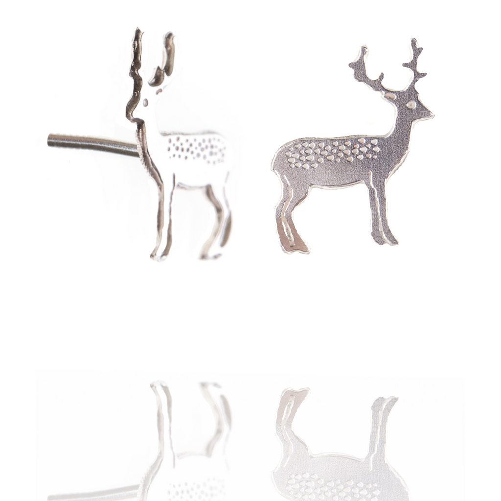 Silver Stag studs by Amanda Coleman