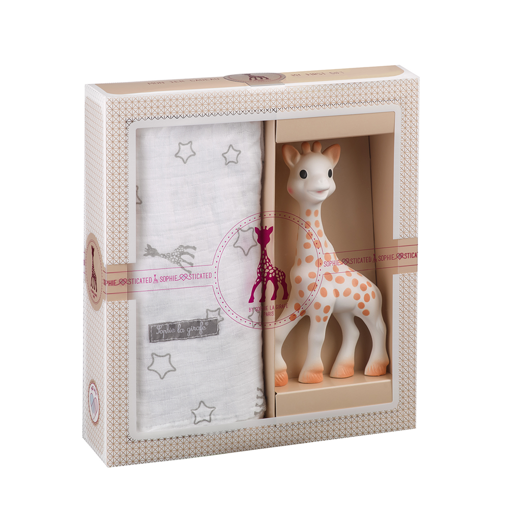 Sophie La Girafe Baby Toy And Swaddle Gift Set
