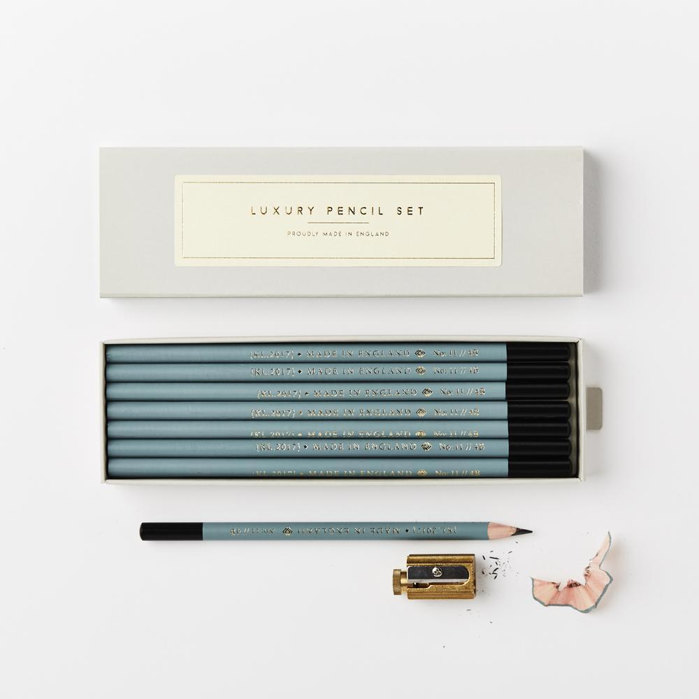 Katie Leamon Teal Luxury Boxed Pencils