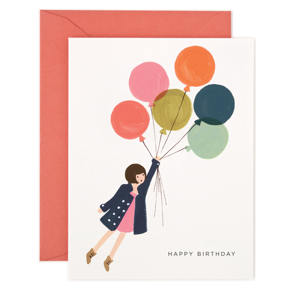 Rifle Paper Card - Happy Birthday Balloons