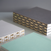 OLA Patterned Spine Notebook Diamond Gold Foil on 3 different colours