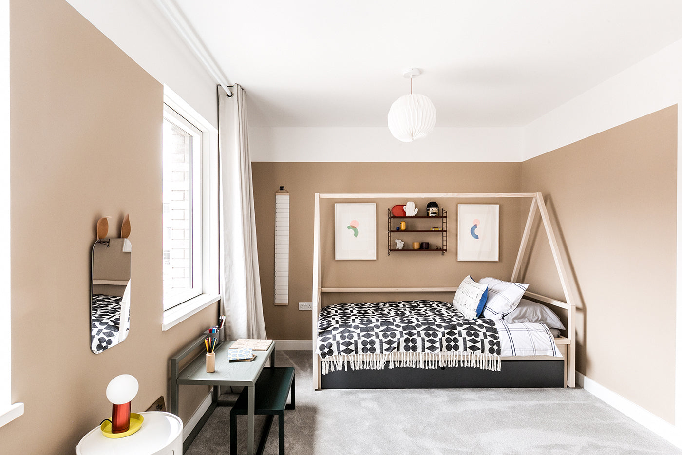 Bedroom design and bespoke prints